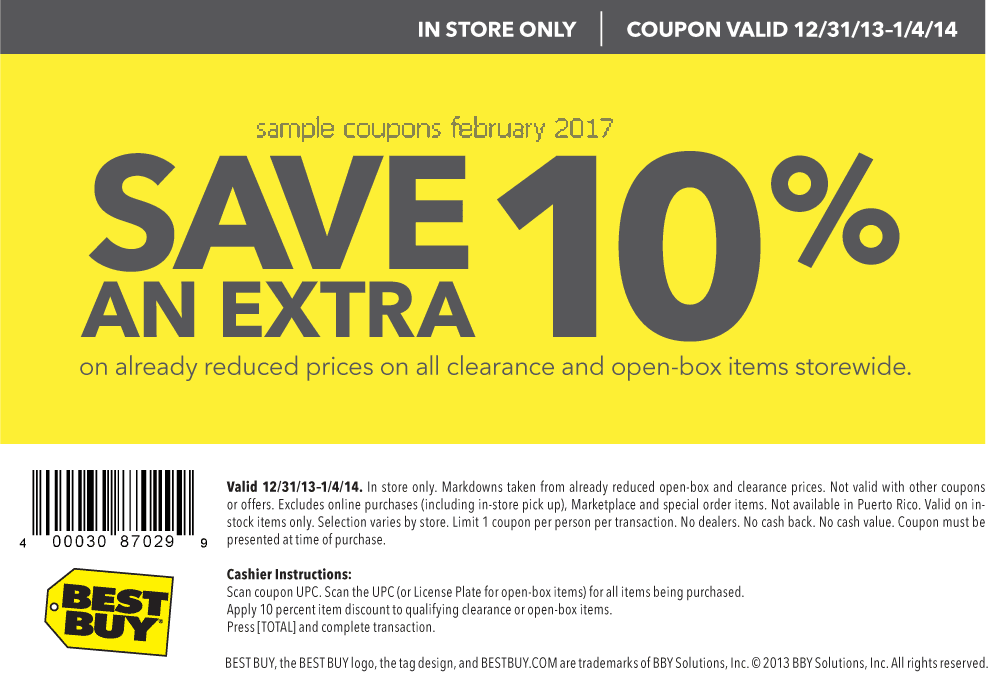 Best buy in store coupons february 2018
