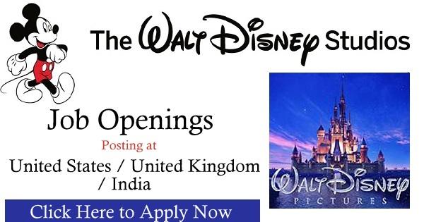 The Walt Disney Studios Job Openings - Gulf Job Vacancies-1234