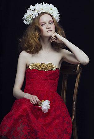 vestido escote palabra de honor rojo