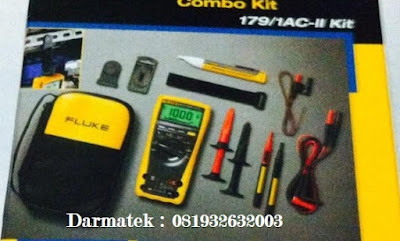 Jual Fluke 179/1AC-II Non-Contact Voltage Detector and Digital Rugged Multimeter Combo KIT Lengkap Asli