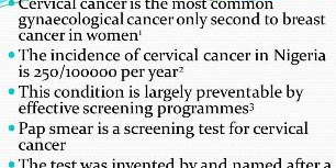 Effective Screening Programmes for Cervical Cancer