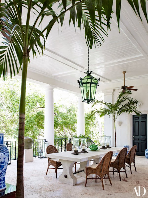 Bunny Williams loggia in DR - found on Hello Lovely Studio