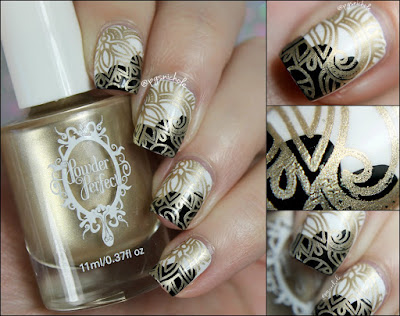 Powder Perfect Golden Stamping Polish