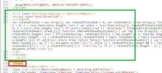cara membuat artikel terkait di tengah atas bawah postingan blogger