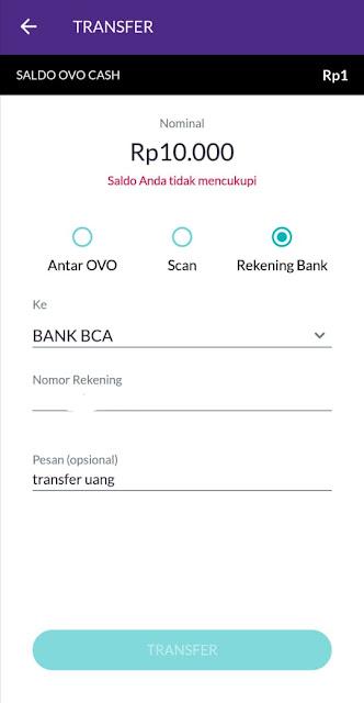 Cara Transfer Uang Tanpa Rekening Bank Pakai Aplikasi OVO