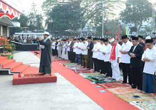 Presiden Sholat Idul Adha Di Sukabumi