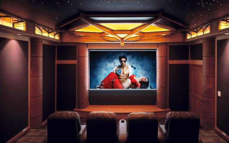 Inspirational ideas for home theatre rooms kerala home for House plans with theater room