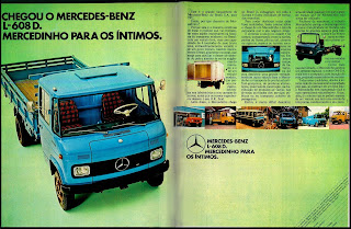 propaganda caminhão Mercedes-Benz L608 D - 1972. Reclame caminhão anos 70.