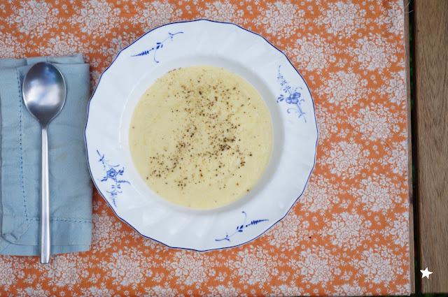 velouté pâtisson soupe huile essentielle