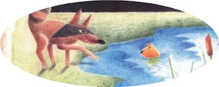 Contoh Narrative Text-Fable-The Jackal and the pond full of fish