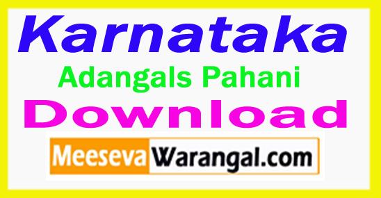 Karnataka Adangals Pahani ROR 1B FMB Tippan Free Download
