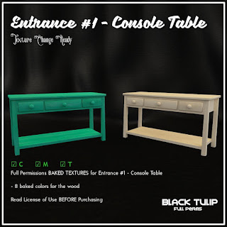 [Black Tulip] Textures - Entrance Kit #1 - Console Table