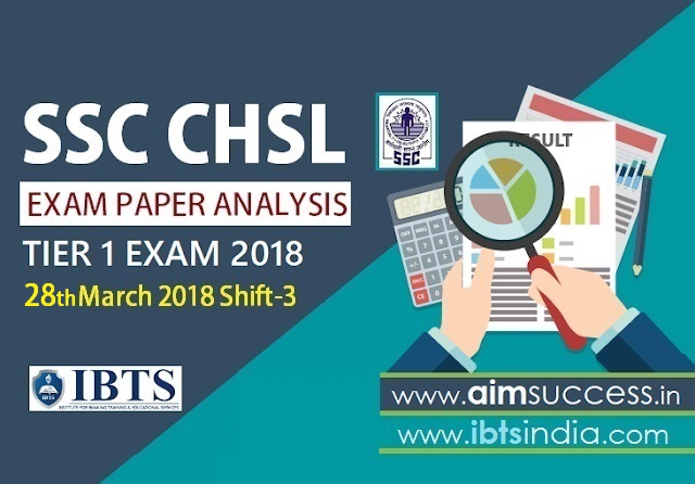 SSC CHSL Tier-I Exam Analysis 28th March 2018: Shift - 3
