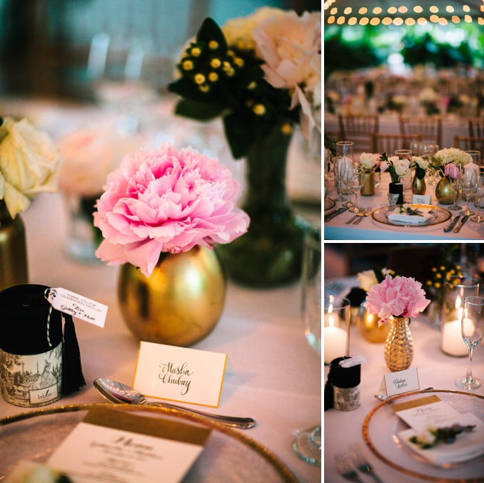beautiful wedding dinner table details