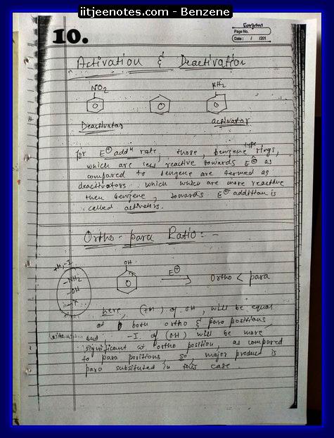 Benzene Notes-CHEMISTRY
