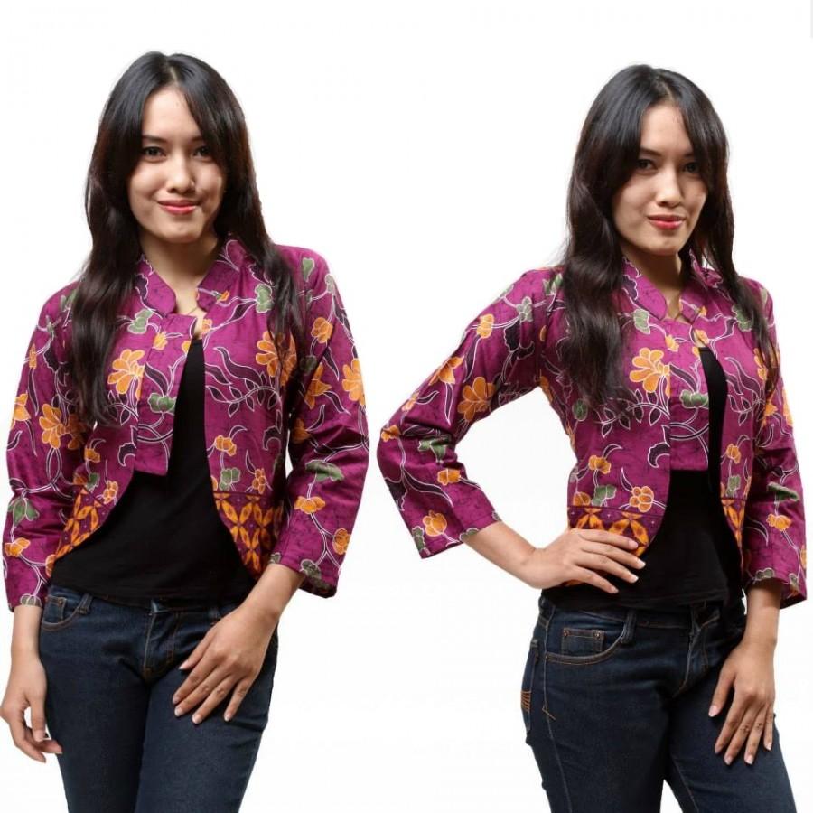 15 cardigan batik wanita modern 2019 model baju batik kantor