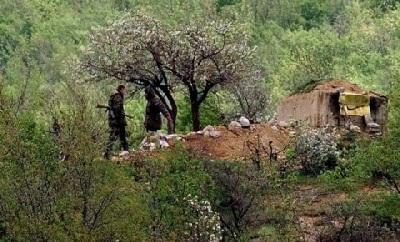 Бункер српских војника на Морини 1999., граница са Албанијом.