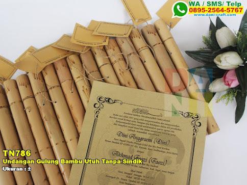Undangan Gulung Bambu Utuh Tanpa Sindik