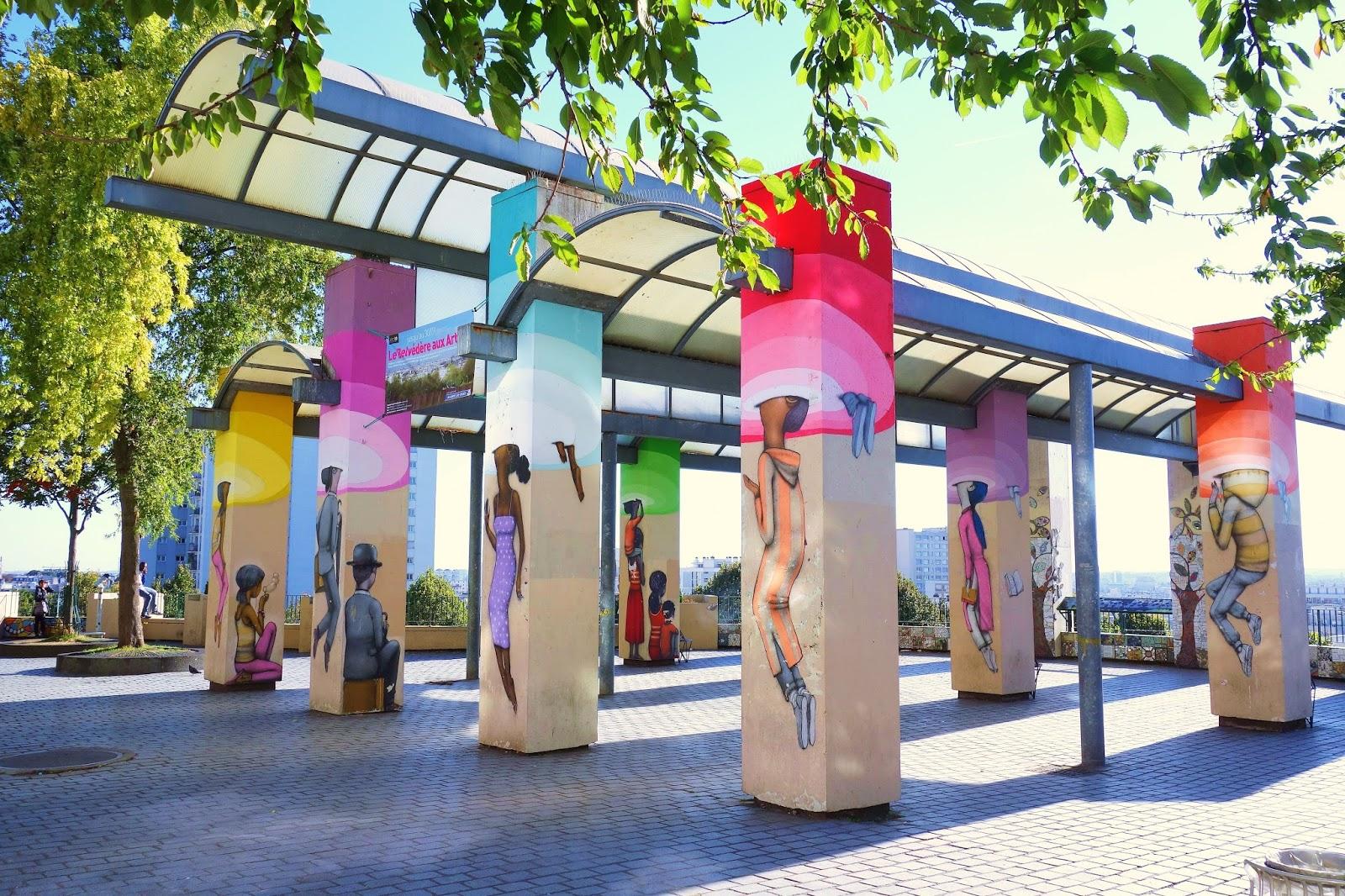 Sunday street art seth aka julien malland belv d re du parc de belleville paris 20 paris - Expo street art paris ...