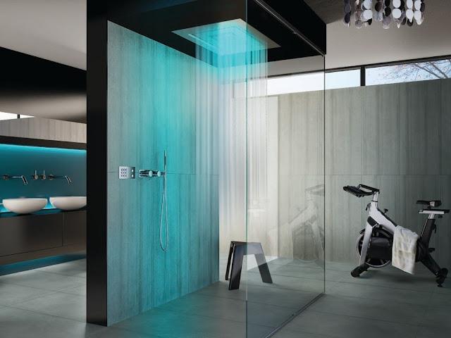 Kamar Mandi dengan Shower Room Rumah Minimalis