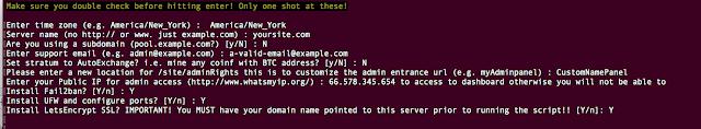 yiimp script installation