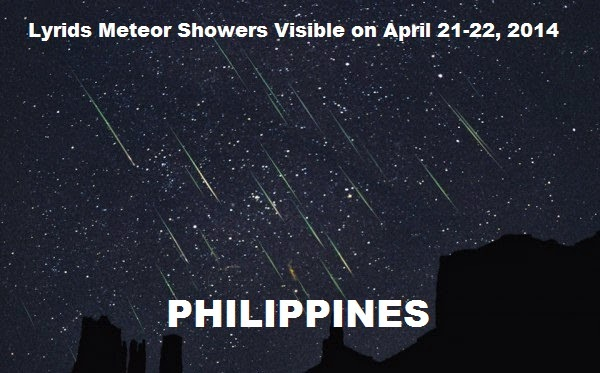 Lyrids Meteor Showers Visible on April 21-22, 2014 in Philippines
