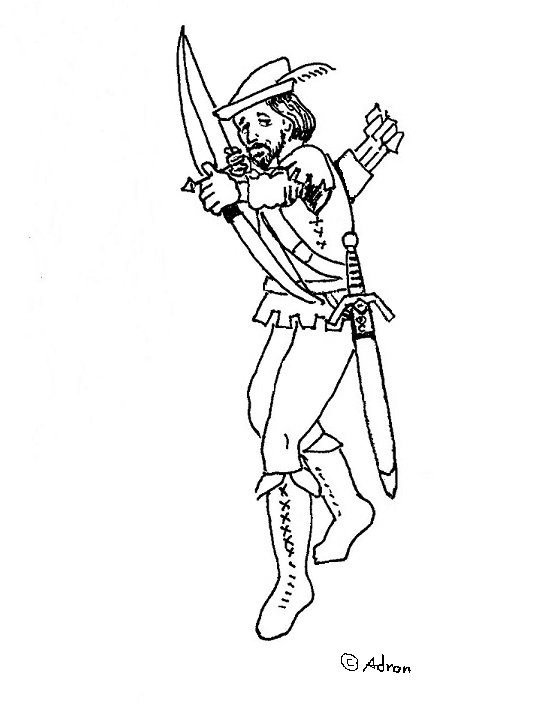 free robin coloring pages - coloring pages for kids by mr adron free robin hood