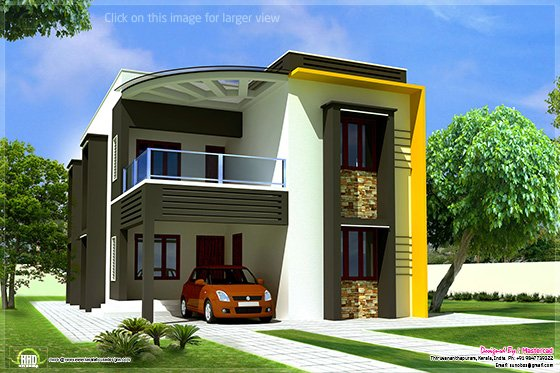 Contemporary villa elevation