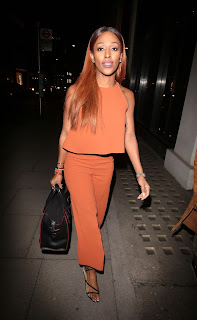 Alexandra Burke Arrives at Hakkasan Restaurant in London