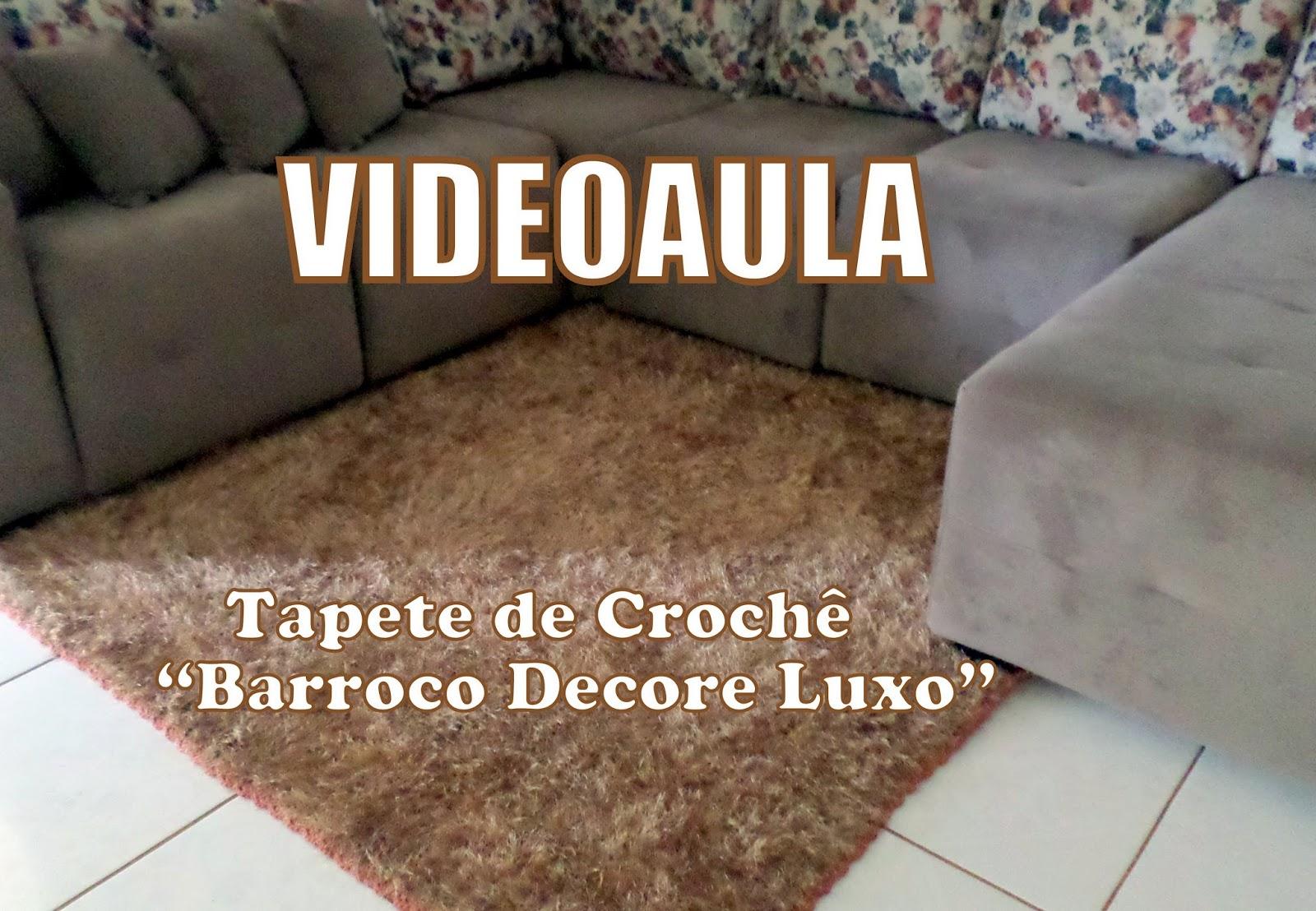 Diandra Arte Em Croch Videoaula Tapete De Sala Decore Luxo