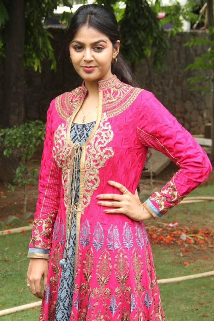 Beautiful Gujarati Girl Monal Gajjar Photos In Orange Dress