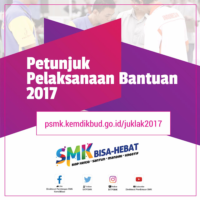 Daftar Bantuan Direktorat Pembinaan SMK Tahun 2017