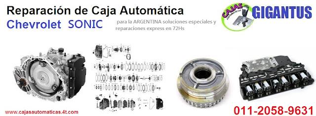 reparacion y repuestos para  caja automatica chevrolet sonic