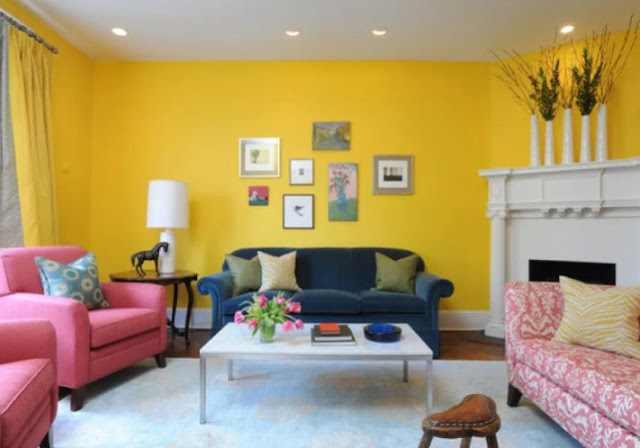 warna cat tembok ruang tamu yang bagus