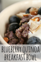blueberry quinoa breakfast bowl rezept