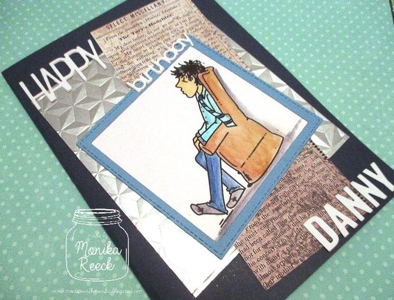 Creative With Monika Sunday Stamps 190 Manly Birthday Card A