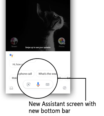 Google Assistant Preparing for New UI Update : New Visual Snapshot Found in the Bottom Bar