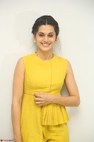 Taapsee Pannu looks mesmerizing in Yellow for her Telugu Movie Anando hma motion poster launch ~  Exclusive 088.JPG