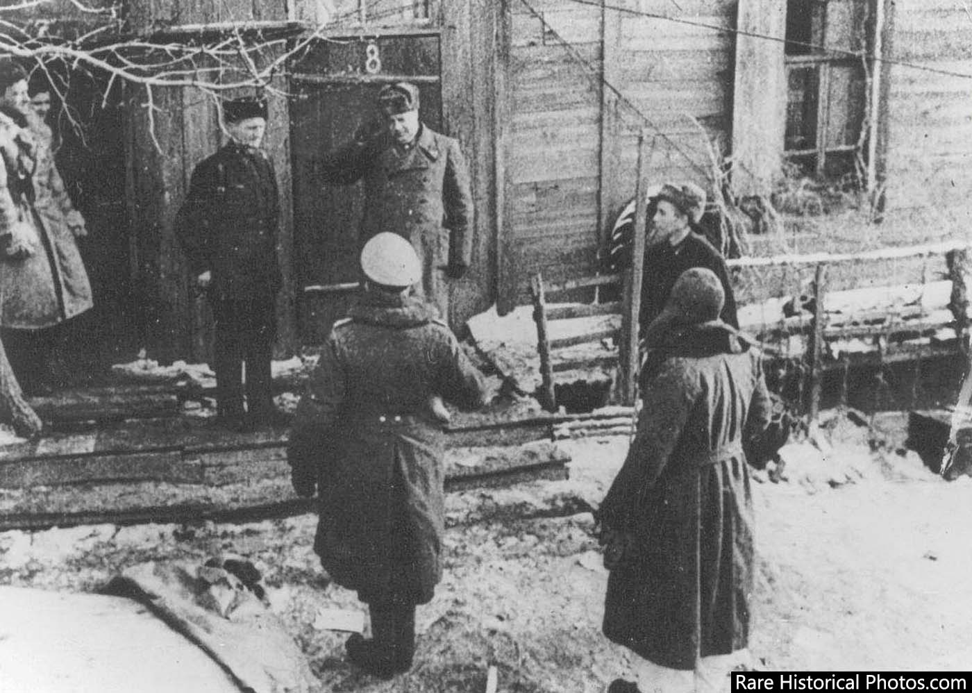 General Karl Strecker of the German Sixth Army surrenders to the Russians. February 2, 1943.