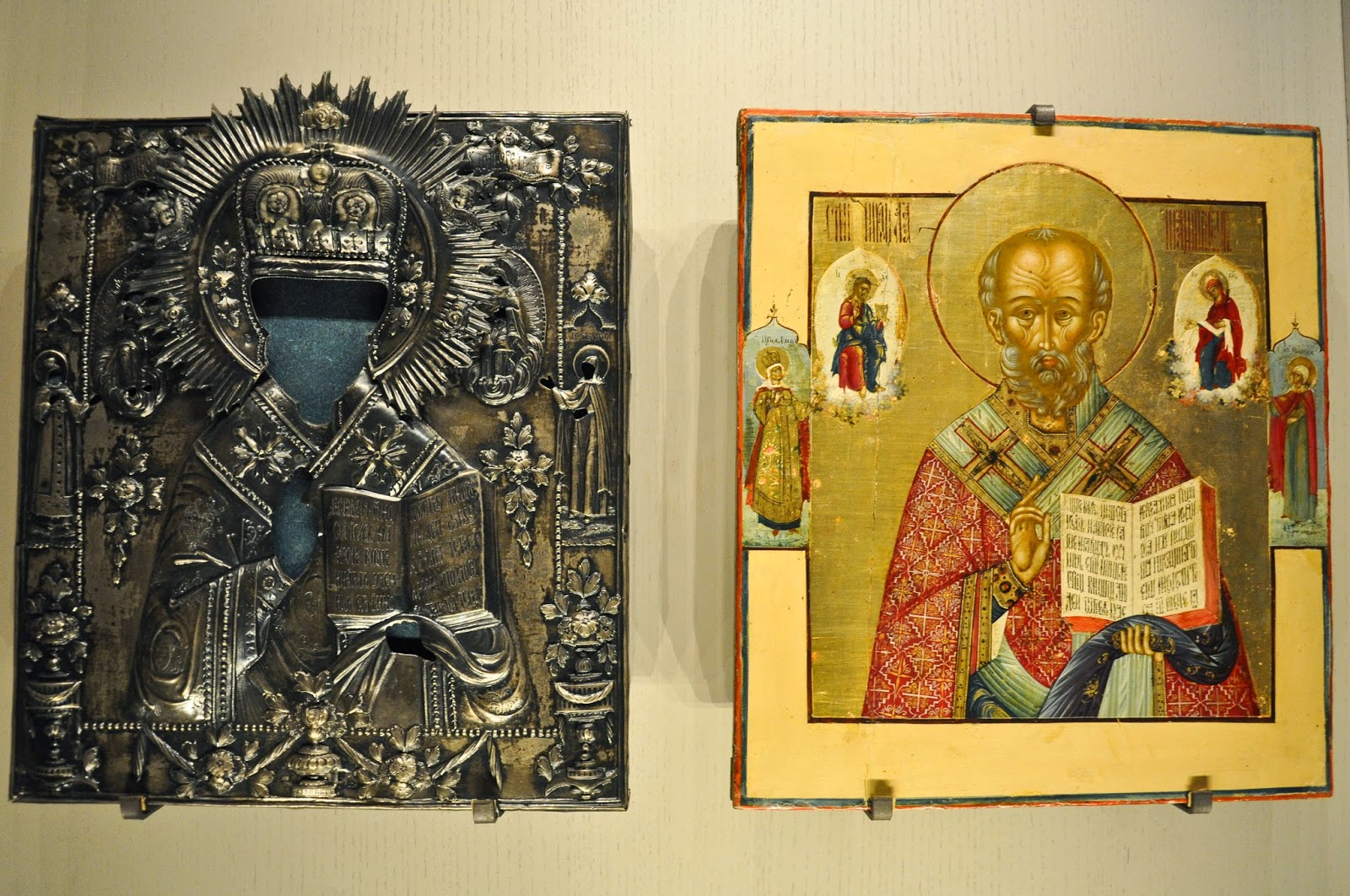 A Russian icon and its metal covering, Gallerie d'Italia, Palazzo Leoni Montanari, Vicenza, Italy