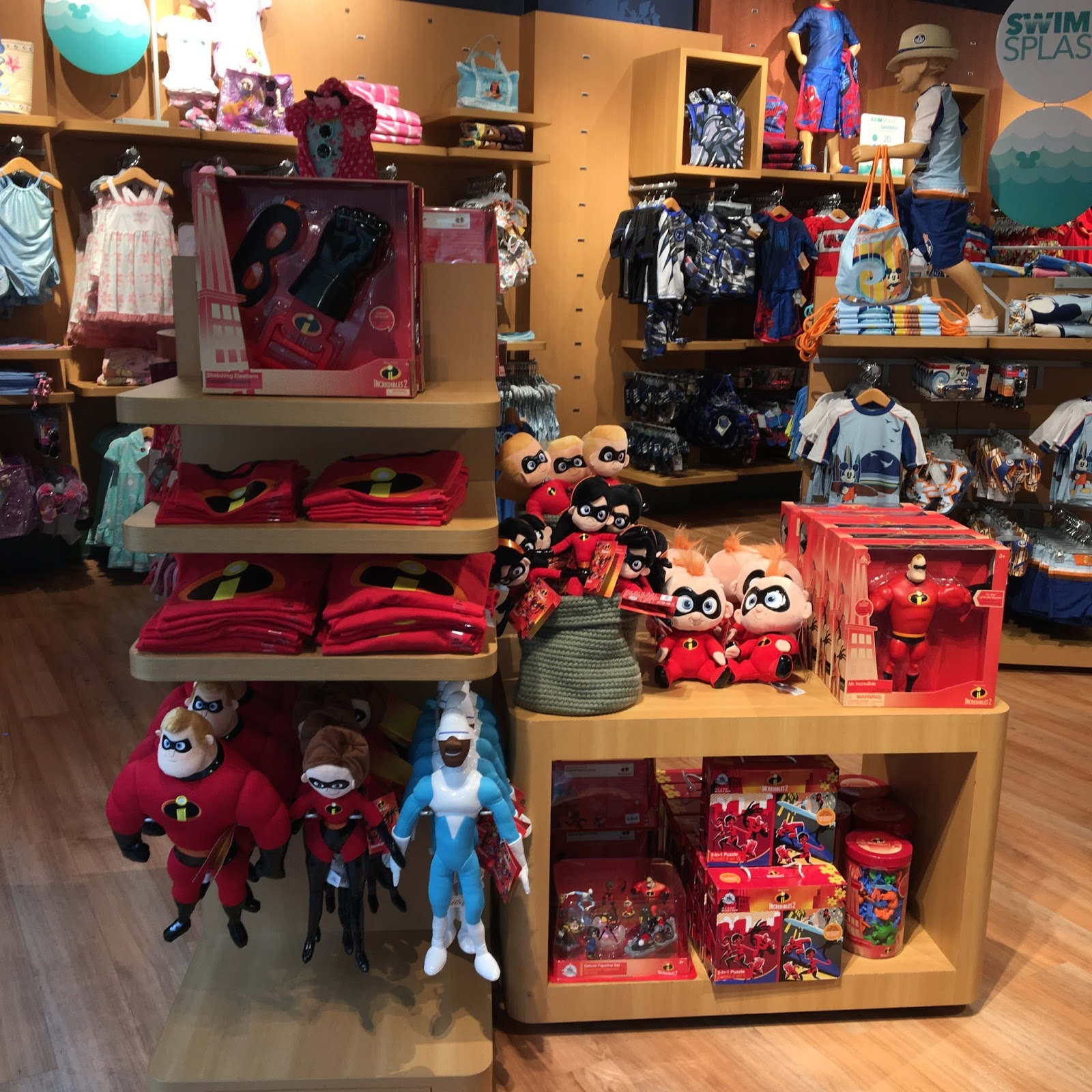 the disney store incredibles 2 merchadise release 2018