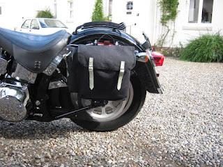 Alforjas Carradice y Harley Davidson