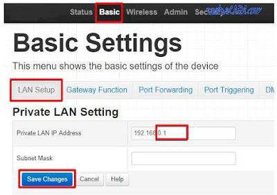 Cara Mengubah IP Address di Router