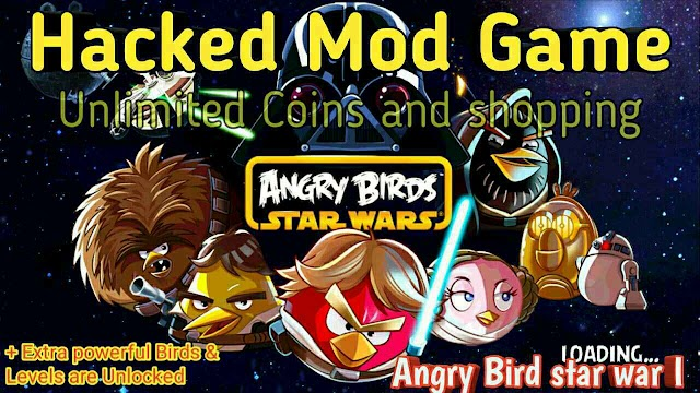 Angry Bird star war mod Game unlimited shopping and Birds