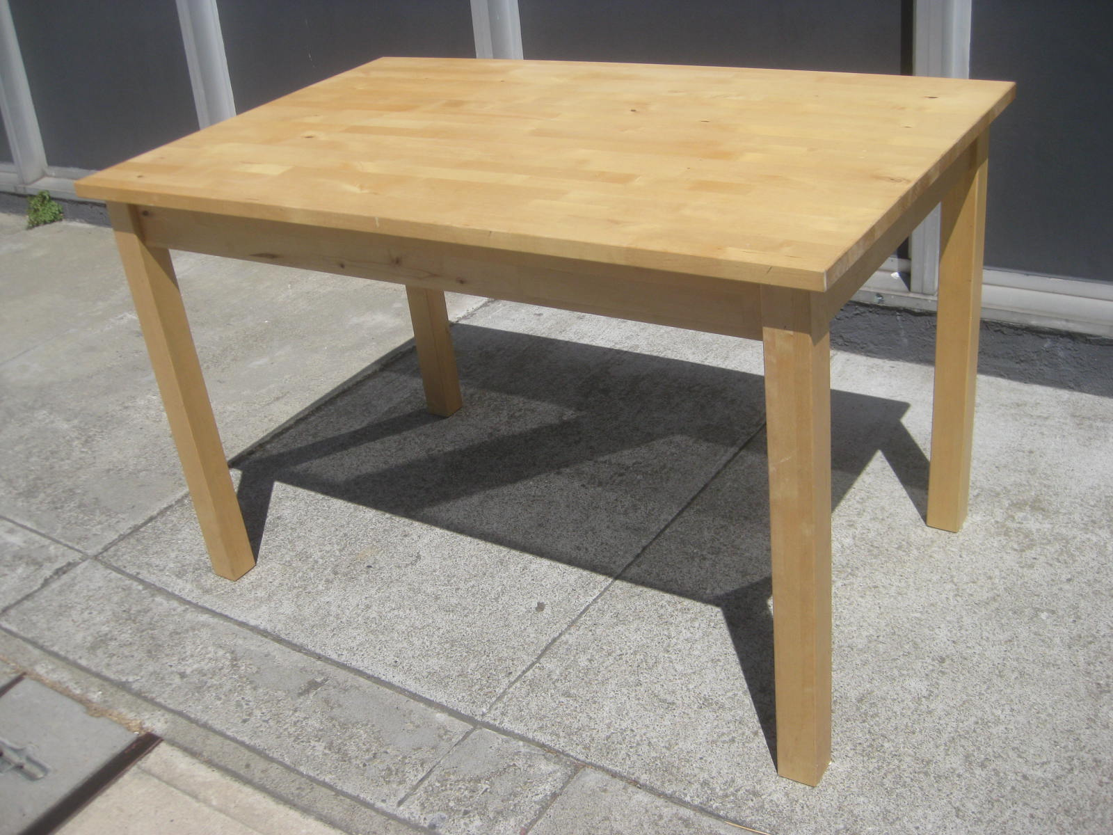 ikea wooden dining table 4 chairs iron lounge laver with