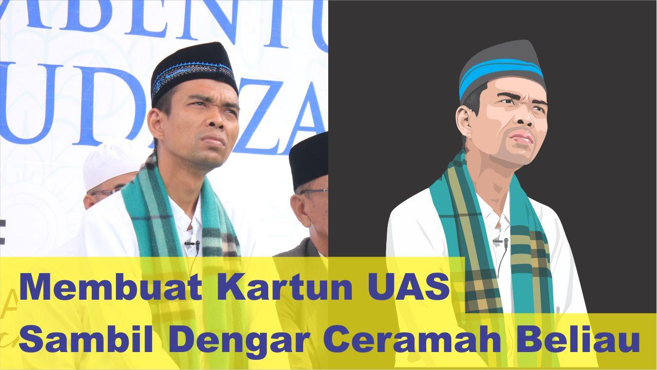 Download Foto Kartun Ustadz Abdul Somad LC., MA.