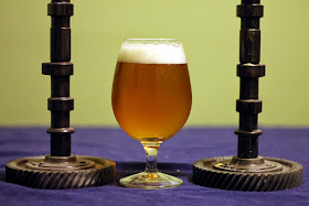 A glass of the finished IPA.