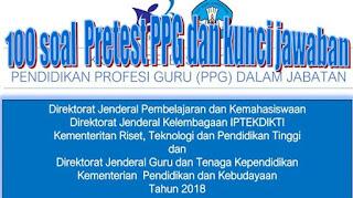 http://www.basirin.com/2018/05/contoh-100-soal-pretest-ppg-dan-kunci.html