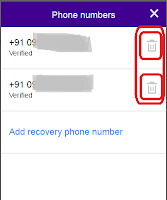 how to update mobile number in yahoo