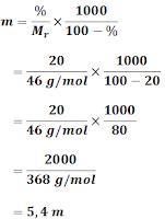 Materi Lengkap Molalitas dan Fraksi Mol Beserta Contohnya